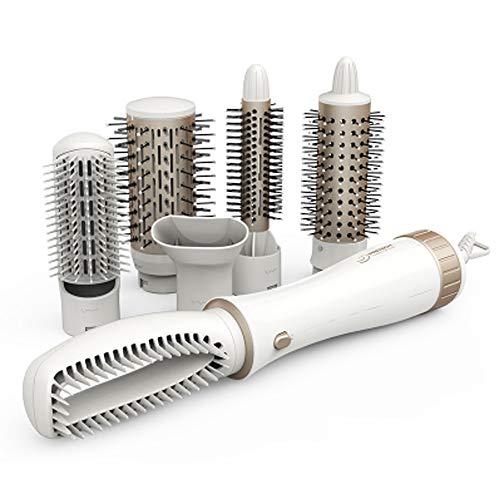 Cepillo Secador de Pelo - Cepillo Redondo Eléctrico Multifuncional de Aire Caliente...
