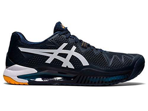 ASICS Men's Gel-Resolution 8 Tennis Shoes, 10M, French Blue/White