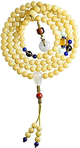 KEEBON Meditación Budista 108 Bodhi Beads Pulsera de múltiples Tesoros Chakra Pulsera con Cuentas Rosario Mala Feng Shui Pulsera Pulsera Collar Atraer Dinero para una Buena Fortuna Valorosa, Verde