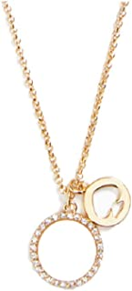 Kate Spade New York Spot The Spade Pave Charm Pendant Mother Pearl
