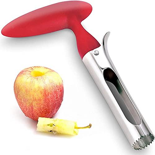 Extractor de semillas profesional de manzana y piña, de acero inoxidable, mango cómodo, antideslizante, protección contra la corrosión y herramienta de cocina de alto rendimiento