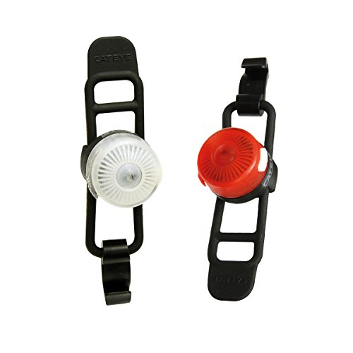 CatEye Loop 2 Front/Rear Set RC rechargeable-sl-ld140rc Luces y reflectores, Ciclismo – Negro, no tamaño