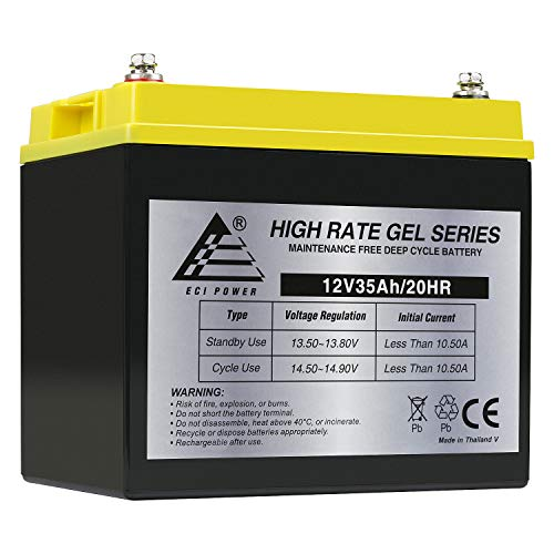 12 Volt 35AH Rechargeable Gel Type Deep Cycle Battery ExpertPower