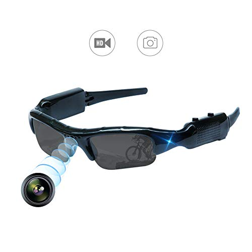 YAOAWE - Gafas de sol ocultas para cámara de vídeo, grabación, deportes...