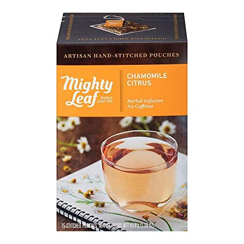 Mighty Leaf Tea Chamomile Citrus Hand-Stitched Tea Bags, 15 ct