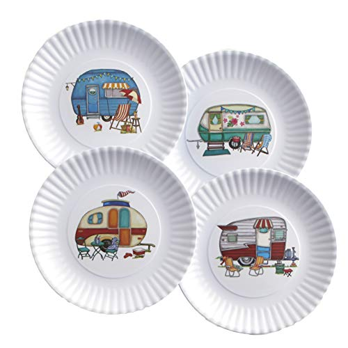 Nostalgic Camper Melamine Dinner Plates with