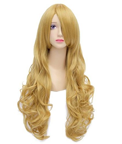 Generic Anime Long Wave pour fille Multicolore Cheveux Cosplay Perruques