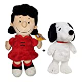 Peanuts - Pack de 2 Peluches Perro Snoopy 8'66'/22cm + Lucy 11'/29cm Calidad Super Soft