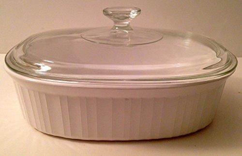 Corningware Vintage French White 2.5 Quart Baker Serving Casserole F-2-B With Glass Lid