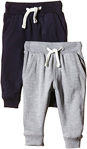 Magic Kids Jungen Sweathose, 2er Pack, Gr. 122, Mehrfarbig (Dark Navy 778)