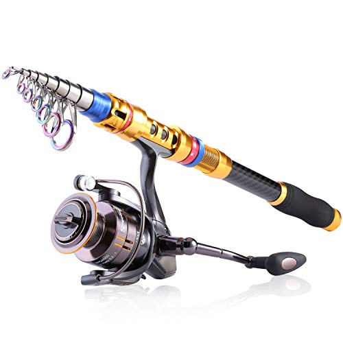 Sougayilang Portable Telescopic Fishing Rod and Reel...
