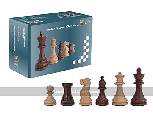 schach queen Jeu d'échecs américain Staunton King, E233, Marron/Blanc