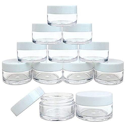 Doses cosmétiques Plastique Transparent, récipients cosmétiques, Lotion, Bouteilles, des flacons, Pommadiers,White Cap,15ml