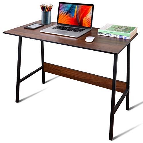 GOLDORO Computer Desk 39' Small Office Desk Simple Study Writing Table Industrial Style Workstation for Home Office Multi-Usage Wooden Desk for Small Space Space Saving Easy to Assemble