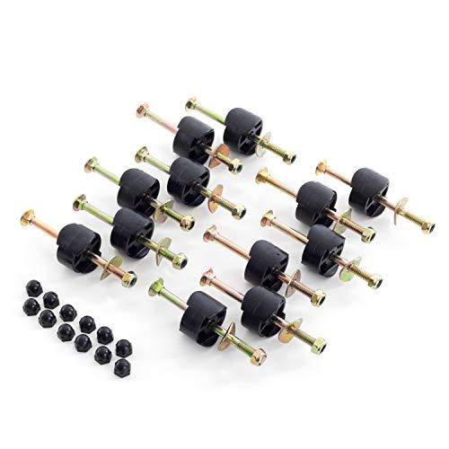 Ampel 24 12 x Schraube mit Distanzhalter Klassik Trampolin Netzpfosten