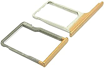 BisLinks Gold Sim Card Tray + SD Memory Card Reader Holder Replacement for HTC One M8