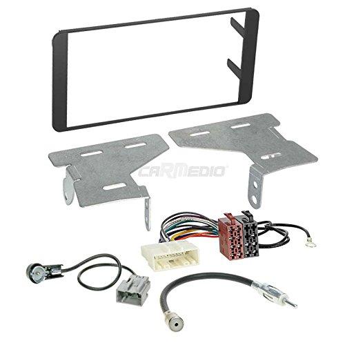 Carmedio Subaru BRZ 12-16 2-DIN Autoradio Einbauset in original Plug&Play Qualität mit Antennenadapter Radioanschlusskabel Zubehör und Radioblende Einbaurahmen schwarz