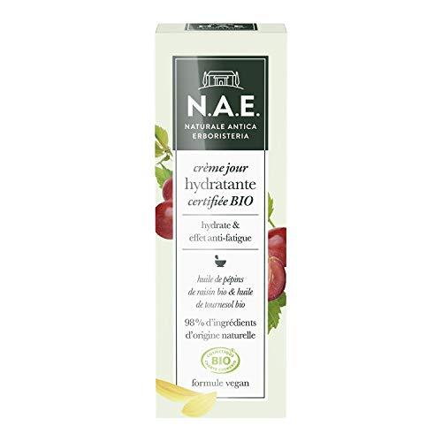 N.A.E. - Crème Jour Hydratante Visage - Certifiée Bio - Huile de Pépins de Raisin Bio et Huile de Tournesol Bio - 98% d'ingrédients d'origine naturelle - Contenant de 50 ml