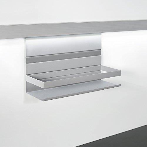 KESSEBÖHMER Linero MosaiQ Universalablage 350 x 110 x 200 mm mit Rahmen titangrau / Relingsysteme