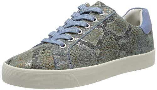 Caprice Damen Schnürer Sneaker, Blau (Sky-Blue Snak.Core 881), 37 EU