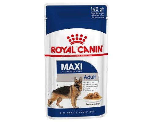 Royal Canin Wet Maxi Adult Royal Canin Saver Pack 40 x 140g Delicious Wet Food Large Breed Dog Tasty Tender Meat & Sauce Essential Nutrients Promote Overall Wellbeing
