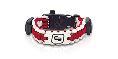 Elite Bags Survival-armband Wrists, fluorescerend rood/wit, QVM-00115/04