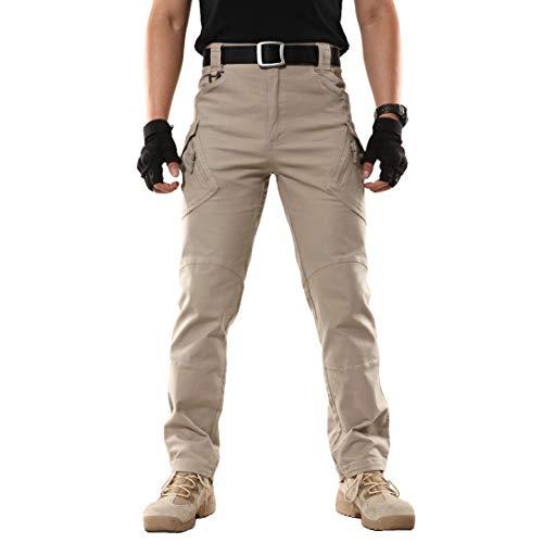 ReFire Gear Herren Taktische Hose Leicht Militär Kampf Cargohose Baumwolle Outdoor Arbeitshose mit vielen Taschen