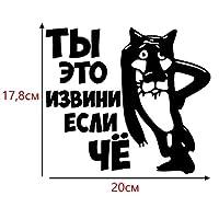 車用ステッカー・デカール おかしい車のステッカーやデカールビニール車ステッカー17.8x20cm BJRHFN (Color : Black)