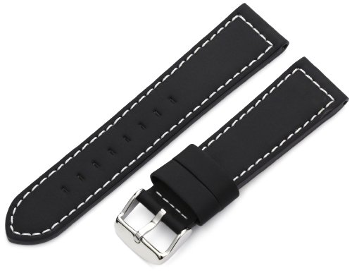 Hadley-Roma 22mm 'Men's' Watch Strap, Color:Black (Model: MSM740RA 220)