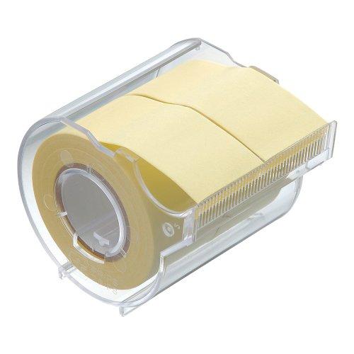 ヤマト 付箋 メモック ロールテープ カッター付き 25mm×10m R-25CH-1 黄色