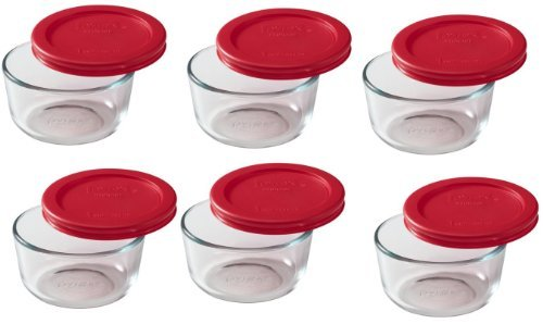 Pyrex 2-cup Storage Containers - Total 12-Piece Value Pack by Pyrex
