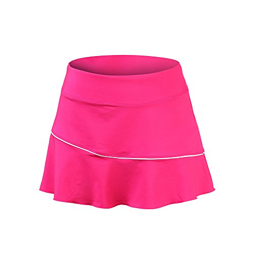 Meja Women's Tennis Skirt, Elastic Quick-Drying Active Performance Skort with Shorts for Running Golf Casual Skirt Pink