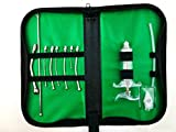 Kit Profesional para Aves, Loros, pajaros, Compuesto por Ocho Agujas de Acero Inoxidable y una de Goma, Todo ordenado en un Estuche