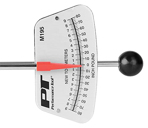 Performance Tool M195 0-80 in/lb & 0-7 Newton-meter Beam Style Torque Wrench