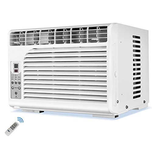 Aire acondicionado de ventana Control Remoto, Filtro De Aire, Mejor CirculacióN De Aire, 2 Modos, DeshumidificacióN con Un Solo BotóN, Blanco [Clase EnergéTica A]