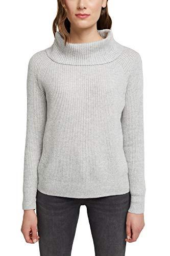 ESPRIT Damen 090EE1I308 Pullover, 044/LIGHT Grey 5, S