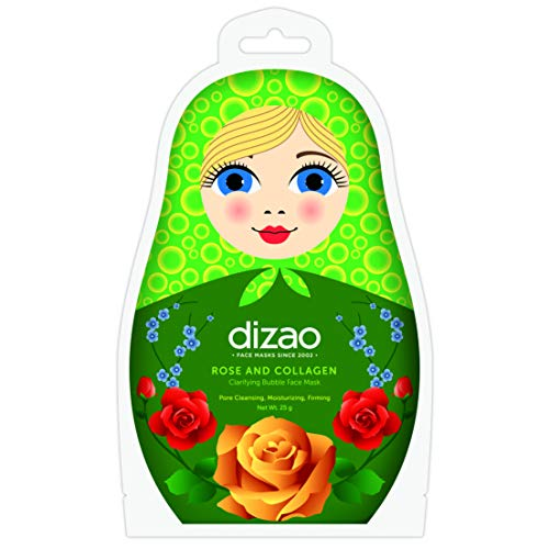 Dizao Organics Rose And Collagen Clarifying Bubble Face Mask - 1 Unidad