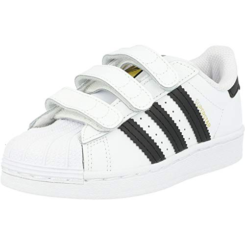 adidas Unisex-Kinder Superstar Cf C Gymnastikschuh, FTWR White Core Black FTWR White, 31.5 EU