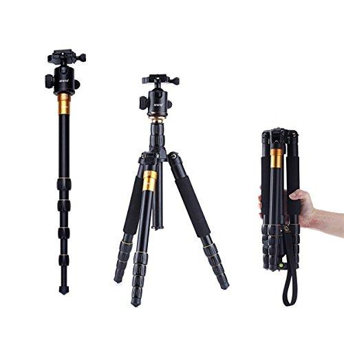 AFAITH Trípode para Cámara Fotográfica de Aluminio Magnésico para Canon, Nikon, Sony, Pentax AF003