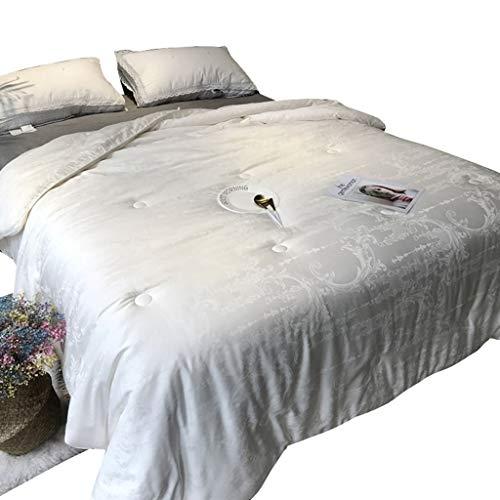 QUILT Bettwäsche Luxuriöse Down Alternativ Tröster Full Size All Season Warm Gesteppte Soja-Faser Füllung Fluffy weiche Betteinsatz, Sticken Design (Größe : 200 * 230cm)