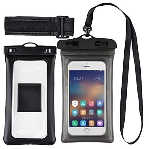 LXW Funda Impermeable de teléfono a Prueba de Agua Bolsa de teléfono Impermeable Universal, Rafting, natación, Protege su teléfono Celular y Objetos de Valor - IPX8 Certificado a 100 pies