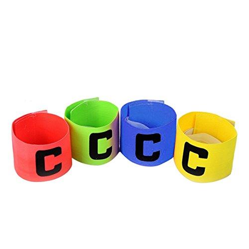 Fascia capitano WINOMO Fasce calcio elastiche e regolabili con lettere C 4PCS