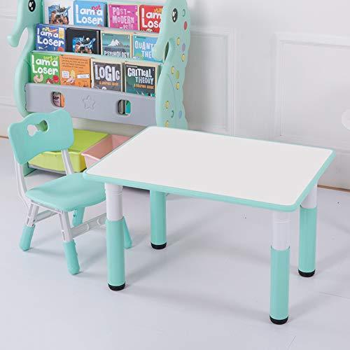 Ensemble table et chaises pour Enfants, Bureau De Jeu pour BéBé à La Maison, Jardin, Table Et Chaise en Plastique