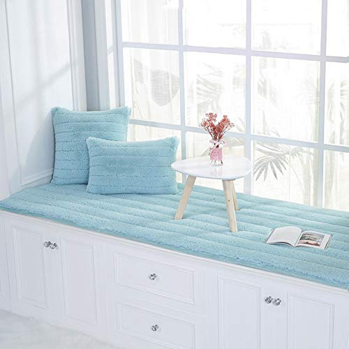 Zgreat Long pluche bay vensterkussen, anti-slip 3 cm dik zacht kussen erker vensterbank pad tatamimat balkondeur slaapkamer