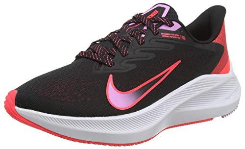 NIKE Air Zoom Winflo 7 Women's Running Shoes (5) Black