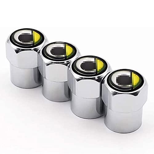NeumáTicos Tapas Para VáLvulas Para Smart, Tapas de VáLvula de Aluminio Con Anillo De Sellado, Tapas Antipolvo NeumáTico de Coche, Accesorios Para Tapas de VáLvulas Antirrobo