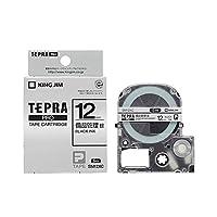 (まとめ) キングジム テプラ PRO テープカートリッジ 備品管理ラベル 12mm 銀/黒文字 SM12XC 1個 【×5セット】 ds-1574931