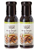 Tastefully Simple Honey Teriyaki Sauce - Use in Stir-Fry, Slow Cooker, Grilling Pork, Poultry, Salmon - 8 Fl oz - (2-Pack)
