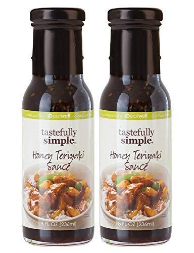 Tastefully Simple Honey Teriyaki Sauce - Use in Stir-Fry, Slow Cooker, Grilling Pork, Poultry, Salmon - 8 Fl oz - (2-Pack)