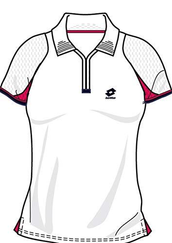 Lotto Poloshirt WTA Tour Gold, Damen, Gr. M (36-38), White/Geranium